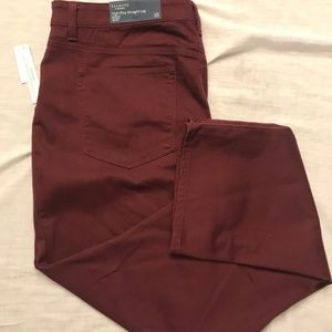 Talbots High Waist Maroon Color Jeans